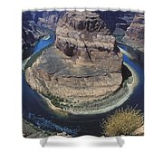 Horseshoe Bend View Shower Curtain