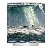 Horseshoe Falls Closeup Over The Brink Shower Curtain