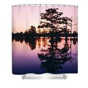 Horseshoe Lake At Dusk Shower Curtain