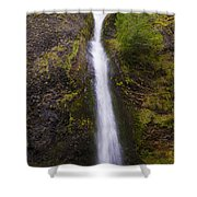 Horsetail Falls Oregon Shower Curtain