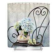 Hortensia Flowers Shower Curtain