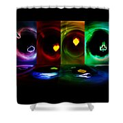 Hot Aces Shower Curtain
