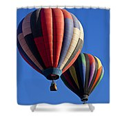 Hot Air Ballons Floating High Shower Curtain