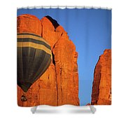 Hot Air Balloon Monument Valley 1 Shower Curtain