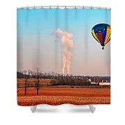 Hot Air Balloon Near Limerick Pa Shower Curtain