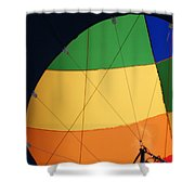 Hot Air Balloon Rigging Shower Curtain