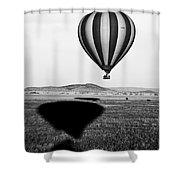 Hot Air Balloon Shadows Shower Curtain