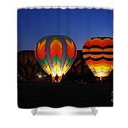 Hot Air Balloons At Dusk Shower Curtain
