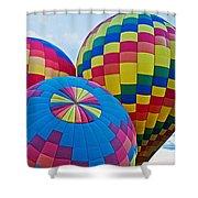 Hot Air Balloons Panorama Shower Curtain