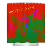 Hot As A Pepper New Year Greeting Card Shower Curtain