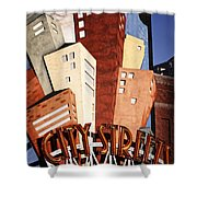 Hot City Streets Shower Curtain