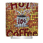 Hot Coffee 10cents Shower Curtain
