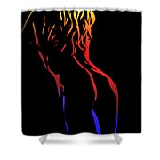 Hot Curves Shower Curtain