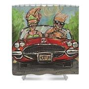 Hot Fun Corvette Shower Curtain