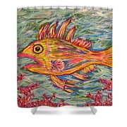 Hot Lips The Fish Shower Curtain