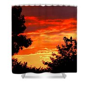 Hot Metal Sky Shower Curtain