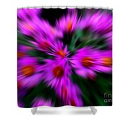 Hot Pink And Green Shower Curtain