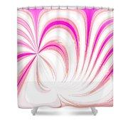 Hot Pink Swirls Shower Curtain