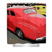 Hot Rod Car Show Shower Curtain