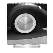 Hot Rod Wheel Shower Curtain