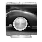 Hot Rod Wheels Shower Curtain