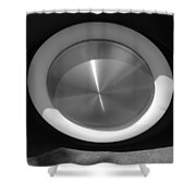 Hot Rod White Wall Shower Curtain