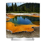 Hot Springs Yellowstone Shower Curtain