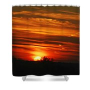 Hot Summer Night Sunset Shower Curtain