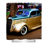 Hot Two Tone Shower Curtain