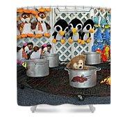 Hot Water Bear Shower Curtain