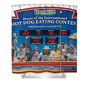 Hotdog Eating Contest Time Shower Curtain