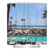 Hotel Del Coronado Pool  Shower Curtain