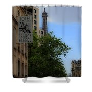 Hotel Eiffel Shower Curtain
