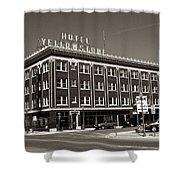 Hotel Yellowstone Shower Curtain