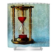 Hour Glass Dripping Blood Shower Curtain