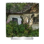 House For Sale Shower Curtain