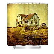 House In Dandelion Paradise Shower Curtain