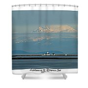 Dungeness Spit Lighthouse - Mt. Baker - Washington Shower Curtain