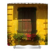 House Of Yellow Shower Curtain