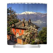 House On The Lake Front Shower Curtain
