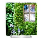 House With Moss Walls Shower Curtain