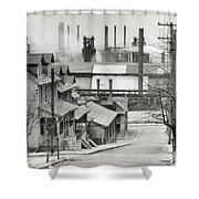 Houses And Steelmill Shower Curtain