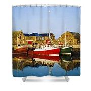 Howth Harbour, County Dublin, Ireland Shower Curtain