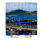 Howth Harbour & Irelands Eye, Co Shower Curtain