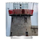 Howth Lighthouse 0002 Shower Curtain