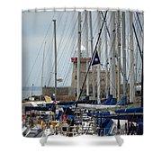 Howth Lighthouse 0003 Shower Curtain
