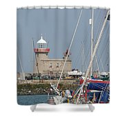 Howth Lighthouse 0004 Shower Curtain