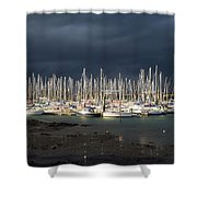 Howth Yacht Club Marina, Co Dublin Shower Curtain