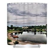 Hoyt Lake Delaware Park 0001 Shower Curtain