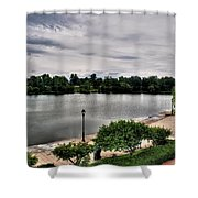 Hoyt Lake Delaware Park 0002 Shower Curtain